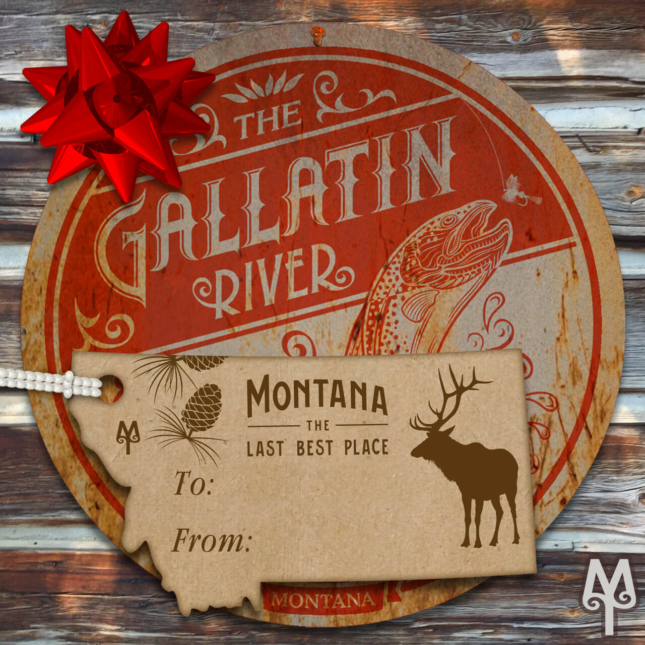 Montana Treasures Gallatin River Gone Fishing Wall Sign