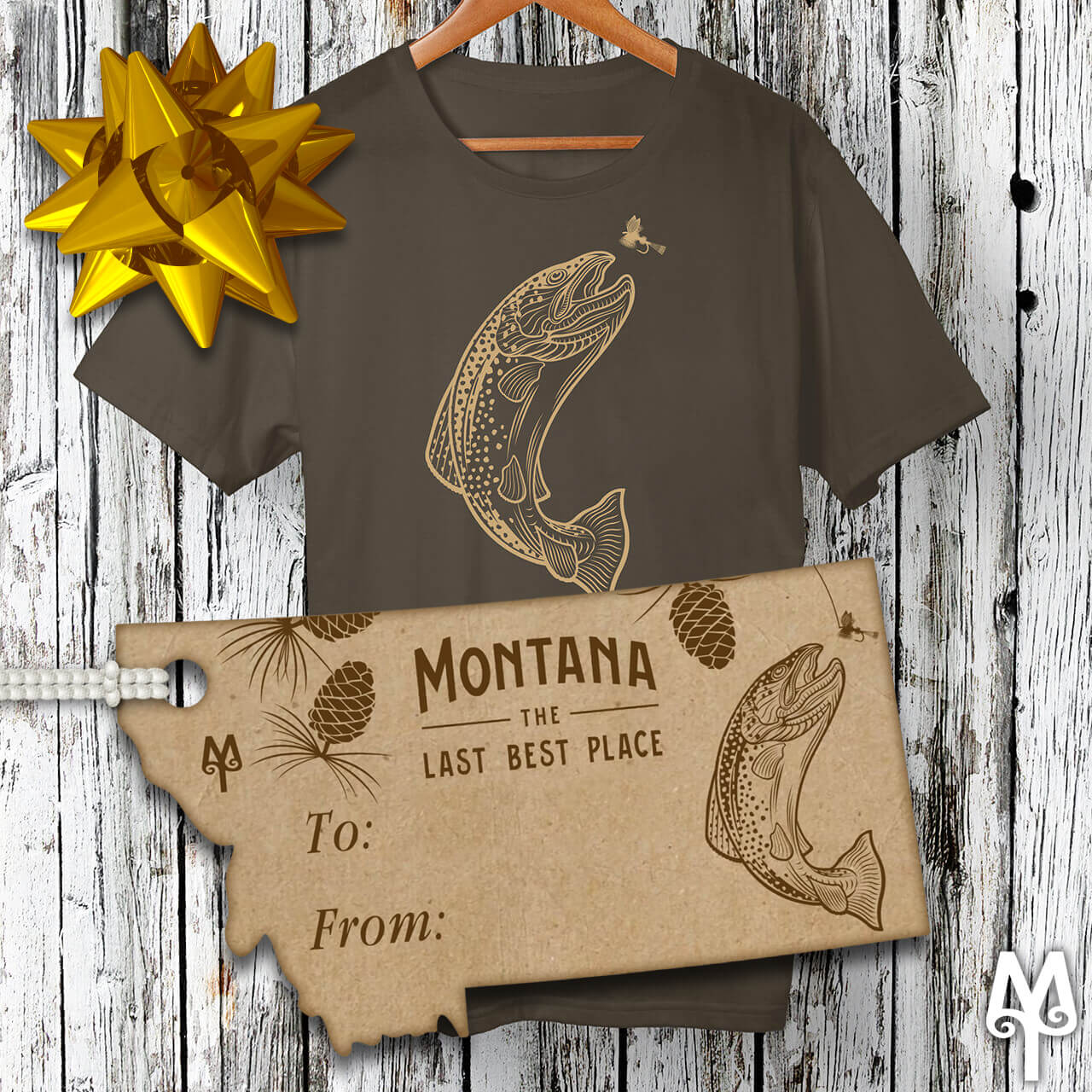 Montana Treasures Brown Trout T-shirt