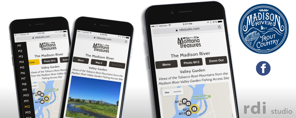 Montana Treasures Free Madison River Photo Map